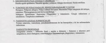 Programa de Otorrinolaringologia de la universidad de Buenos Aires